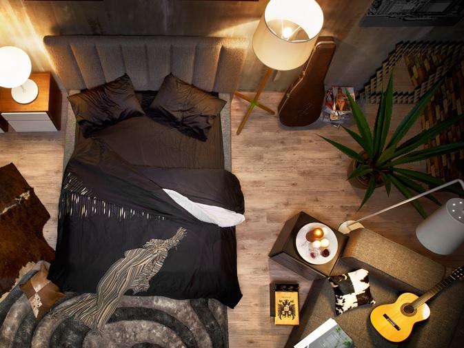 postel čalunená